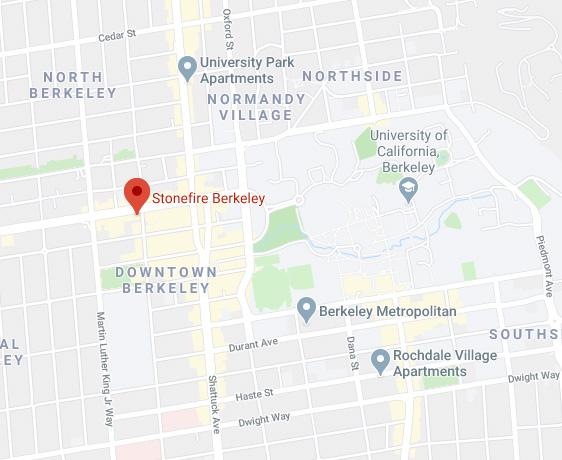 Map of Stonefire Berkeley